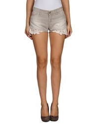 Two Women In The World Denim Shorts Dove Grey
