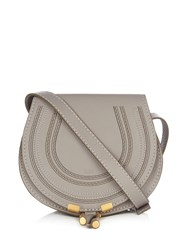 Chloe Marcie Small Leather Cross Body Bag Light Grey