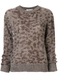 Sea Leopard Pattern Jumper Brown