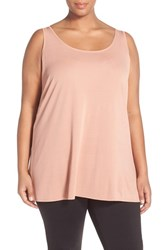 Eileen Fisher Plus Size Women's Silk Jersey Scoop Neck Tunic