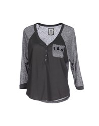 Franklin And Marshall Topwear T Shirts Women Steel Grey