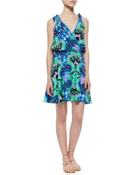 Alice And Trixie Tie Sleeve Ikat Fit And Flare Dress