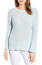 Velvet By Graham And Spencer Women's Cotton Linen Tie Back Sweater