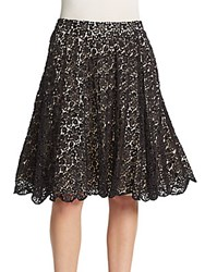 Alice Olivia Earla Embellished Flare Skirt Black