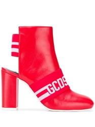 Gcds Cut Out Ankle Boots Red