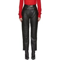 Misbhv Black Leather Moto Trousers