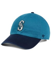 47 Brand '47 Seattle Mariners Cooperstown Clean Up Cap Teal Navy