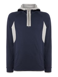 Hugo Boss Men's Sanvar Light Weight Sweat Hooded Top Navy