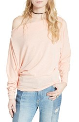 Free People Women's Valencia Off The Shoulder Pullover Peach