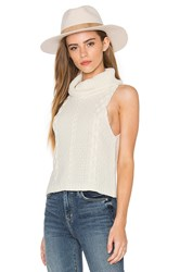 Bishop Young Cropped Cowl Neck Sweater Ivory