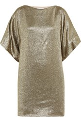 Vionnet Silk Blend Lame Tunic Gold