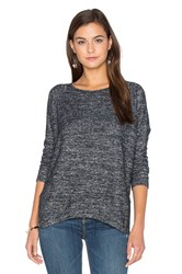 Velvet By Graham And Spencer Cade Long Sleeve Crew Neck Top Charcoal