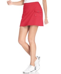 Style And Co. Sport. French Terry Cargo Skort Dark Rose
