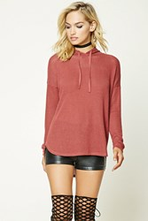 Forever 21 Open Knit Hooded Sweater