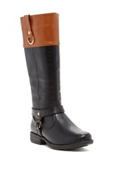 Pink Pop Suzy Two Tone Riding Boot Multi