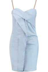 Marc By Marc Jacobs Ruched Taffeta Dress Sky Blue