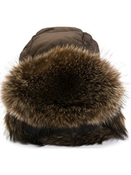 Liska Padded Trooper Hat Brown