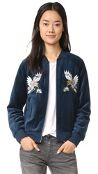 Pam And Gela Embroidered Track Jacket Teal