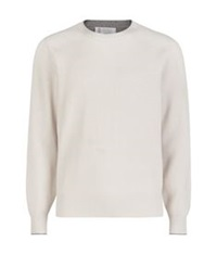 Brunello Cucinelli Ribbed Cashmere Jumper Ivory