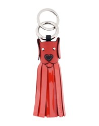 Lancel Key Rings Red