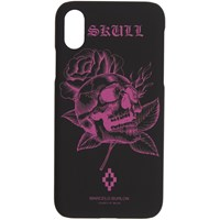 Marcelo Burlon County Of Milan Black And Pink Skull Iphone X Case