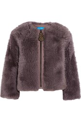 Mih Jeans M.I.H Purdy Shearling Jacket Purple Usd