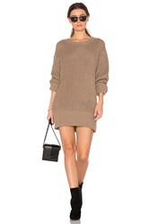 Trois Hume Sweater Dress Brown