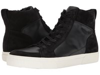 Vince Kameron Black Maddox Leather Sport Suede Shoes
