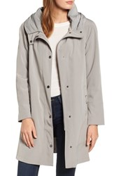 Gallery A Line Raincoat Moonstone