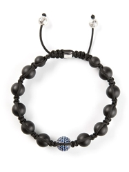 Shamballa Jewels Diamond Embellished Detail Bracelet Black