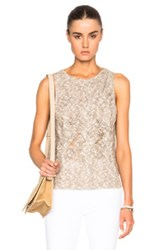 Enza Costa Cableknit Shell Top In Neutrals Brown