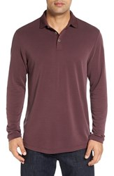 Tommy Bahama Men's 'New Ocean View' Long Sleeve Polo Chestnut