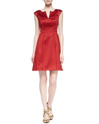 Zac Zac Posen Cap Sleeve Stretch Cotton Dress Women's