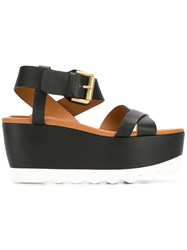 See By Chloe Strappy Platform Sandals Black