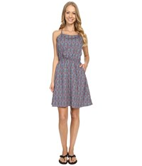 Mountain Khakis Emma Dress Midnight Blue Print Women's Dress