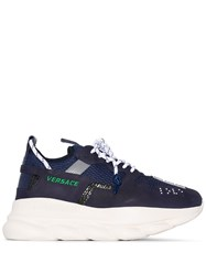 Versace Chain Reaction 2 Sneakers Blue