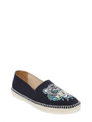 Kenzo Tiger Embroidered Canvas Espadrilles