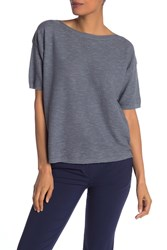 Eileen Fisher Bateau Neck Box Top Blgry