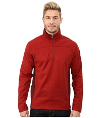 Royal Robbins Cannon 1 2 Zip Dark Firecracker Men's Long Sleeve Pullover Red
