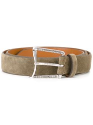 D'amico Curved Buckle Belt Grey