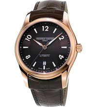 Frederique Constant Fc303rmc6b4 Runabout Rose Gold Plated Steel And Leather Watch