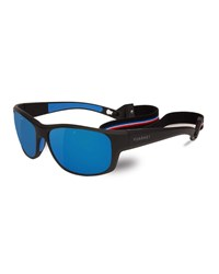 Vuarnet Cup Large Rectangular Active Polarized Sunglasses Black Gray Blue