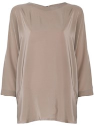 Daniela Gregis Loose Fit Blouse Nude And Neutrals