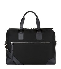 Ralph Lauren Canvas Leather Trim Briefcase Unisex Black