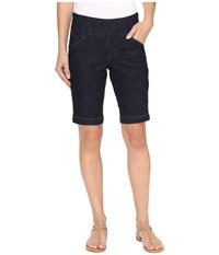 Jag Jeans Ainsley Pull On Bermuda Comfort Denim In Dark Shadow Dark Shadow Women's Shorts Black