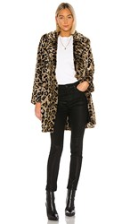 House Of Harlow 1960 X Revolve Genn Faux Fur Coat In Brown. Natural Leopard