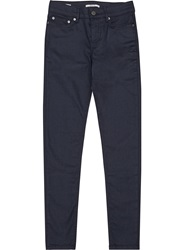 Reiss Stevie Coated Low Rise Skinny Jeans Blue
