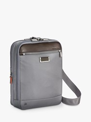 Briggs And Riley Atwork Small Expandable Cross Body Bag Silver
