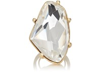 Kenneth Jay Lane Women's White Crystal Cocktail Ring No Color