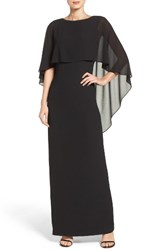 Vince Camuto Women's Cape Overlay Gown